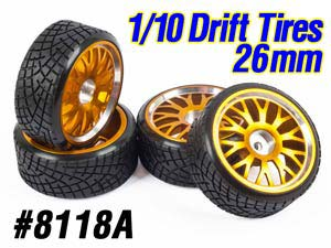 1/10 Drift Tires Set 26mm (4P) #8118A