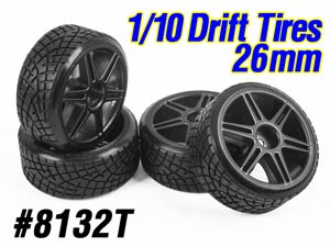 1/10 Drift Tires Set 26mm (4P) #8132T