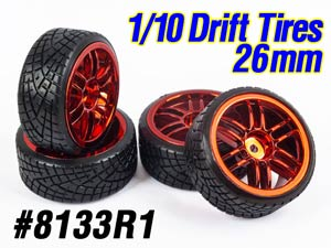 1/10 Drift Tires Set 26mm #8133R1 (4P)