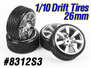 1/10 Drift Tires Set 26mm #8312S3 (4P)