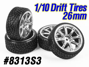 1/10 Drift Tires Set 26mm #8313S3 (4P)