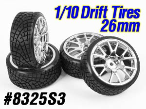 1/10 Drift Tires Set 26mm #8325S3 (4P)