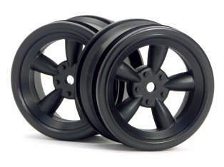 HPI Vintage 5 Spoke Wheel 26mm Black #3816 (2P)