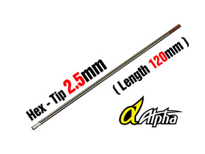 ALPHA Hex Tip 2.5mm (120mm) #MP04-010302