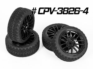 CPV 1/10 Onroad Tires 26mm #3826 (4P)