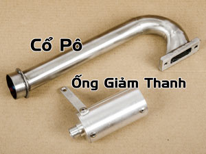 Cổ Pô + Ống Giảm Thanh (for Savage Octane)