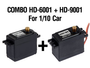 Combo servo HD-6001 + HD-9001 For 1/10 Car