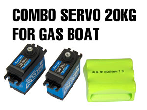 Combo Servo HD 20Kg for Gas Boat