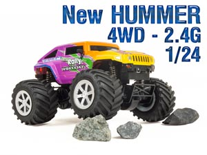 New 1/24 MINI Hummer RC-4WD 2,4G