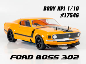 HPI 1/10 Body Ford Boss 302 #17546 (200mm)