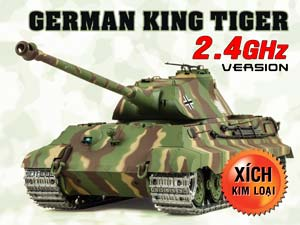 German King Tiger 2.4G Xích Kim Loại (1/16 RTR)