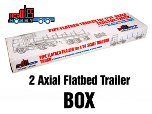 1/14 Flatbed Trailer 2 Axial #HH-140406A