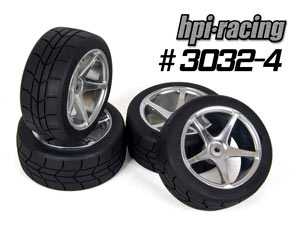HPI 1/10 Gymkhana Tires set #3032-4P