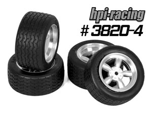 HPI 1/10 Vintage Tires Set #3820-4P (USA)