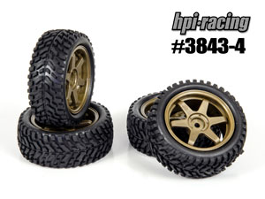 HPI 1/10 Rally Tires Set #3843-4 (29mm)