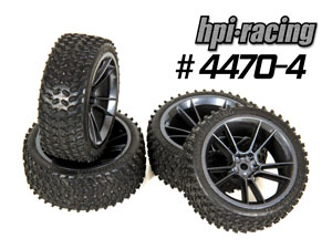 HPI 1/10 On Road Rally Tires #4470-4P (26mm)