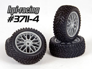 HPI 1/10 Rally Tires Set #3711-4 (30mm)