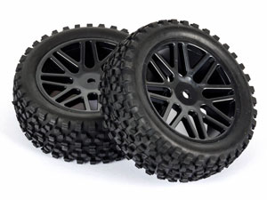 Black 1/10 Buggy Front Tires SR-09020026 (35mm)