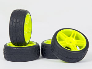 HSP 1/10 On Road Yellow Tires Set 26mm (4P)