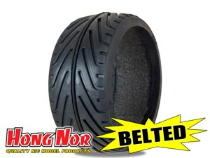 Hongnor 1/8 Radial Tire BELTED BT-111 (2P)