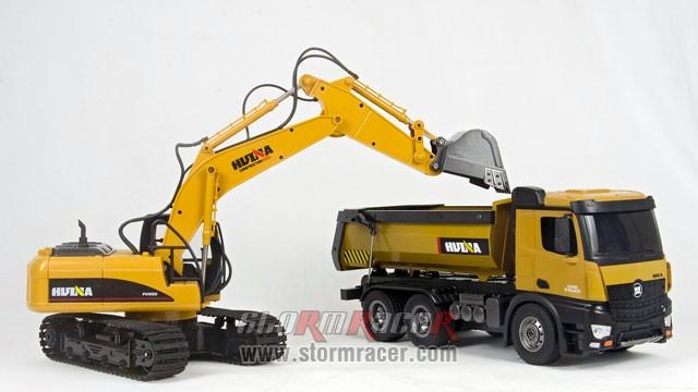Combo Huina Benz + Excavator 002