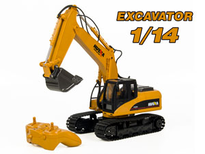 1/14 RC Excavator with 15CH Radio (HuiNa#1550)