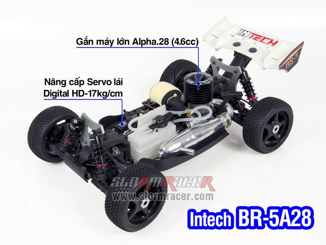 INTECH BR-5A28 Buggy 1/8 Nitro.28 (4.6cc) 007