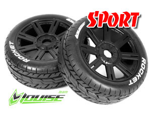 Louise B-Rocket 1/8 Buggy Tires Black (2P)