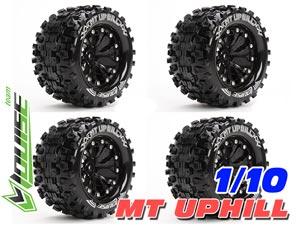 Louise 1/10 MT UPHILL Truck Tires (Black) 4P