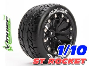 Louise 1/10 ST-ROCKET Stadium Truck Tires (Black) 2P