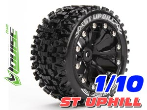 Louise 1/10 ST-UPHILL Stadium Truck Tires (Black) 2P