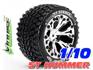 Louise 1/10 ST-HUMMER Stadium Truck Tires (Chrome) 2P