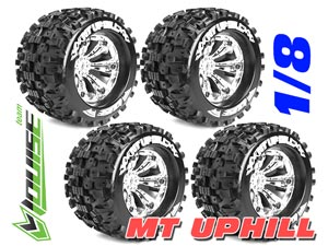 Louise MT-UPHILL Tires Set 1/8 Monster (Chrome) 4P
