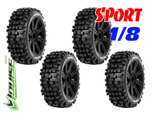 Louise B-Ulldoze Sport Tires Buggy 1/8 (4P)