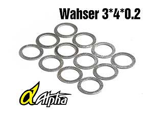 Alpha Washer 3*4*0.2mm (12pcs) #MP05-010101