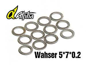 Alpha Washer 5*7*0.2mm (12pcs) #MP05-010201