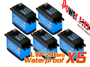 Combo Waterproof Servo LW-20MG x 5con