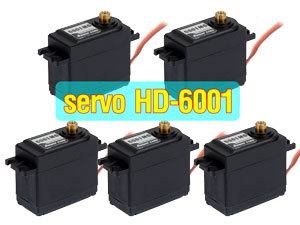 PowerHD Analog Servo #HD-6001MG x 5con
