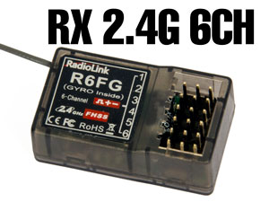 Receiver RadioLink #R6FG with Gyro (for Car)