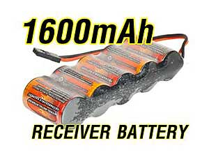 VB Ni-MH Battery 1,600mA/6.0V (long pack)