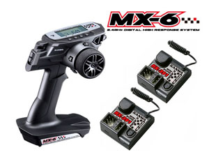 Remote Sanwa MX-6 with 2 Receivers