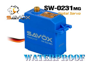 Savox WaterProof Digital Servo 6,0V #SW-0231MG
