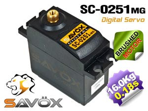 Savox Digital Servo SC-0251MG 6,0V
