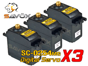 Savox Digital Servo SC-0254MG x 3 con