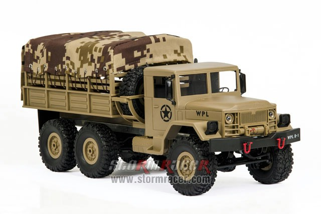 WPL-B1 Military Truck 1/16 w/Camo-Roof 009