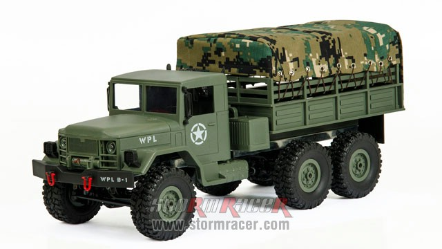 WPL-B1 Military Truck 1/16 w/Camo-Roof 012