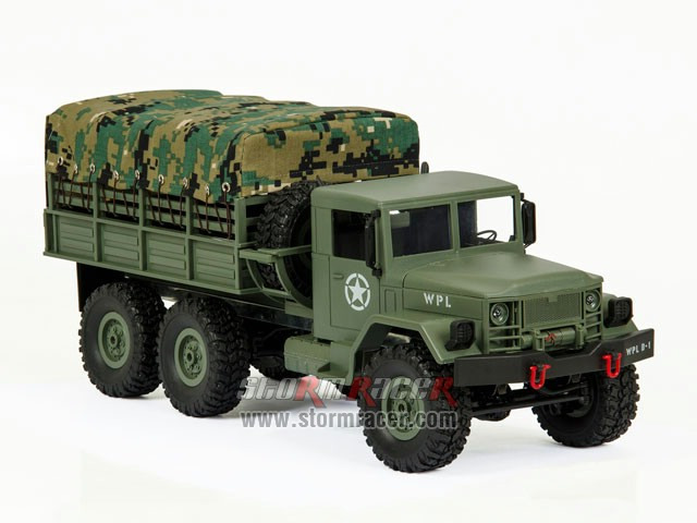 WPL-B1 Military Truck 1/16 w/Camo-Roof 015