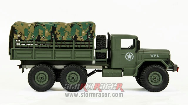 WPL-B1 Military Truck 1/16 w/Camo-Roof 017