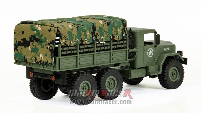 WPL-B1 Military Truck 1/16 w/Camo-Roof 018