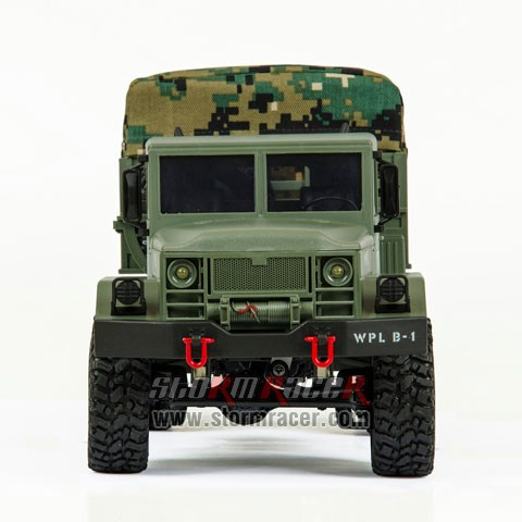 WPL-B1 Military Truck 1/16 w/Camo-Roof 019